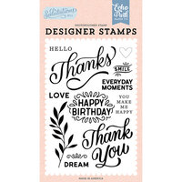 Echo Park - Salutations No. 1 Collection - Clear Photopolymer Stamps - Thanks