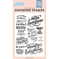 Echo Park - Salutations No. 1 Collection - Clear Photopolymer Stamps - Hello Sunshine