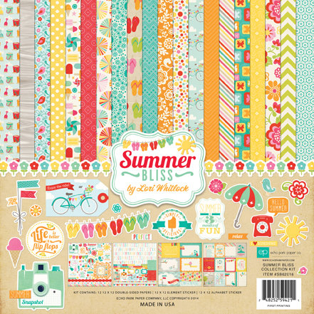 Echo Park - Summer Bliss Collection - 12 x 12 Collection Kit