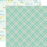 Echo Park - Sweet Baby Boy Collection - 12 x 12 Double Sided Paper - Sweet Boy Plaid