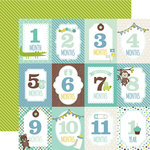 Echo Park - Sweet Baby Boy Collection - 12 x 12 Double Sided Paper - Month Cards