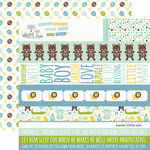 Echo Park - Sweet Baby Boy Collection - 12 x 12 Double Sided Paper - Border Strips