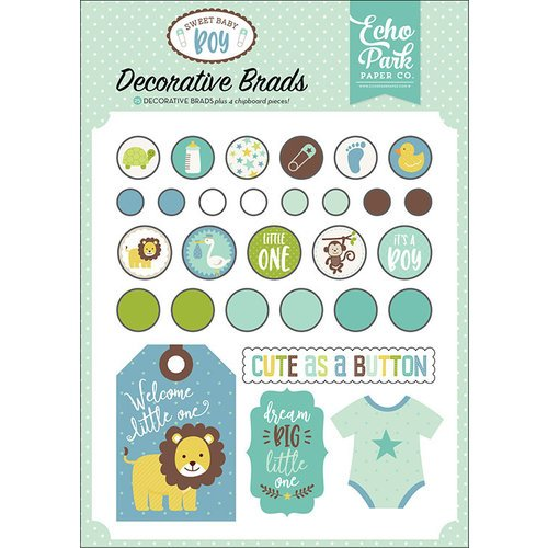 Echo Park - Sweet Baby Boy Collection - Decorative Brads