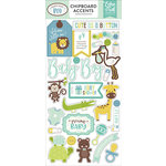 Echo Park - Sweet Baby Boy Collection - Chipboard Stickers - Accents