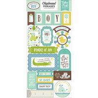 Echo Park - Sweet Baby Boy Collection - Chipboard Stickers - Phrases