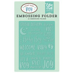 Echo Park - Sweet Baby Boy Collection - Embossing Folder - Special Delivery