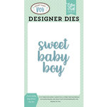 Echo Park - Sweet Baby Boy Collection - Designer Dies - Sweet Baby Boy Word
