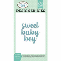 Echo Park - Sweet Baby Boy Collection - Designer Dies - Sweet Baby Boy Word