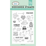 Echo Park - Sweet Baby Boy Collection - Clear Acrylic Stamps - Precious Baby Boy