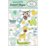 Echo Park - Sweet Baby Boy Collection - Enamel Shapes