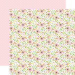 Echo Park - Sweet Baby Girl Collection - 12 x 12 Double Sided Paper - Baby Floral