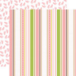 Echo Park - Sweet Baby Girl Collection - 12 x 12 Double Sided Paper - Baby Ribbons