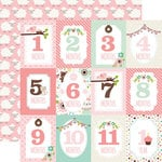 Echo Park - Sweet Baby Girl Collection - 12 x 12 Double Sided Paper - Month Cards