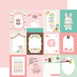 Echo Park - Sweet Baby Girl Collection - 12 x 12 Double Sided Paper - 3 x 4 Journaling Cards