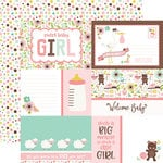 Echo Park - Sweet Baby Girl Collection - 12 x 12 Double Sided Paper - Journaling Cards