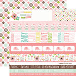 Echo Park - Sweet Baby Girl Collection - 12 x 12 Double Sided Paper - Border Strips