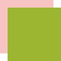 Echo Park - Sweet Baby Girl Collection - 12 x 12 Double Sided Paper - Green