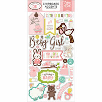 Echo Park - Sweet Baby Girl Collection - Chipboard Stickers - Accents