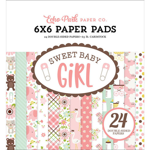 Echo Park - Sweet Baby Girl Collection - 6 x 6 Paper Pad