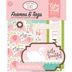 Echo Park - Sweet Baby Girl Collection - Ephemera - Frames and Tags
