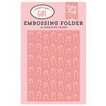Echo Park - Sweet Baby Girl Collection - Embossing Folder - Teddy Bear