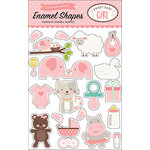 Echo Park - Sweet Baby Girl Collection - Enamel Shapes