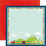 Echo Park - Scoot Collection - 12 x 12 Double Sided Paper - Trains