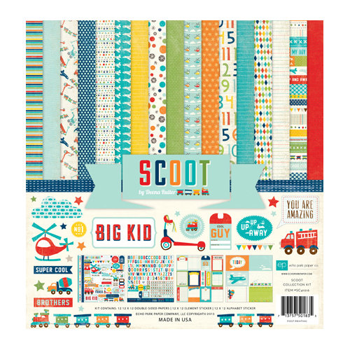 Echo Park - Scoot Collection - 12 x 12 Collection Kit