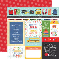 Echo Park - I Love School Collection - 12 x 12 Double Sided Paper - Multi Journaling Cards