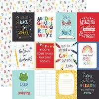 Echo Park - I Love School Collection - 12 x 12 Double Sided Paper - 3 x 4 Journaling Cards