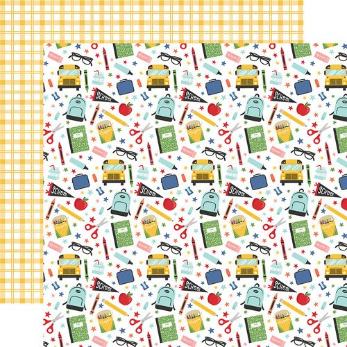 Echo Park - I Love School Collection - 12 x 12 Double Sided Paper - School Things