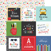 Echo Park - I Love School Collection - 12 x 12 Double Sided Paper - 4 x 4 Journaling Cards