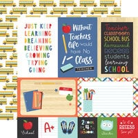 Echo Park - I Love School Collection - 12 x 12 Double Sided Paper - 4 x 6 Journaling Cards