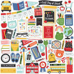 Echo Park - I Love School Collection - 12 x 12 Cardstock Stickers - Elements