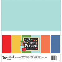 Echo Park - I Love School Collection - 12 x 12 Paper Pack - Solids