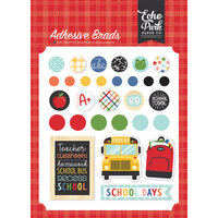 Echo Park - I Love School Collection - Self Adhesive Decorative Brads
