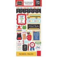 Echo Park - I Love School Collection - Chipboard Stickers - Phrases