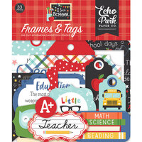 Echo Park - I Love School Collection - Ephemera - Frames and Tags