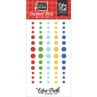 Echo Park - I Love School Collection - Enamel Dots