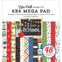 Echo Park - I Love School Collection - 6 x 6 Mega Paper Pad
