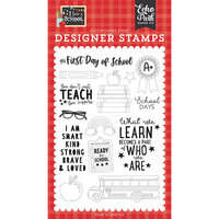 Echo Park - I Love School Collection - Clear Photopolymer Stamps - First Day of School