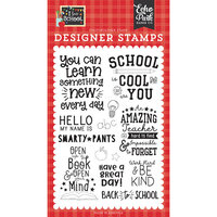 Echo Park - I Love School Collection - Clear Photopolymer Stamps - School Is Cool