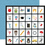 Echo Park - School Rules Collection - 12 x 12 Double Sided Paper - Alphabet