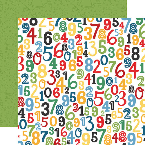 Echo Park - School Rules Collection - 12 x 12 Double Sided Paper - Numbers