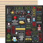 Echo Park - School Rules Collection - 12 x 12 Double Sided Paper - School Is Cool