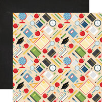 Echo Park - School Rules Collection - 12 x 12 Double Sided Paper - Supplies
