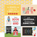 Echo Park - School Rules Collection - 12 x 12 Double Sided Paper - 4 x 6 Journaling Cards