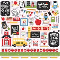 Echo Park - School Rules Collection - 12 x 12 Cardstock Stickers - Elements