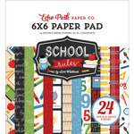 Echo Park - School Rules Collection - 6 x 6 Paper Pad
