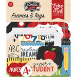 Echo Park - School Rules Collection - Ephemera - Frames and Tags
